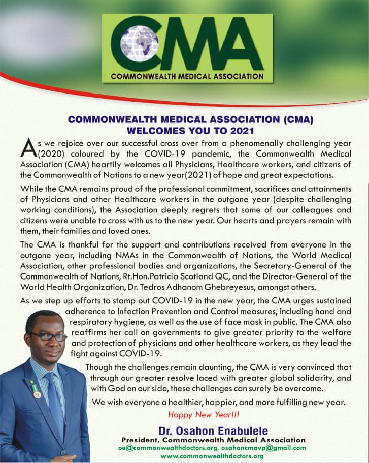 CMA Welcomes You To 2021
